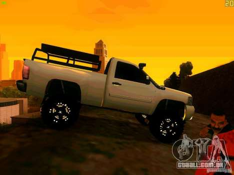 Chevrolet Silverado Final para GTA San Andreas vista direita