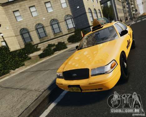 Ford Crown Victoria NYC Taxi 2012 para GTA 4 vista de volta
