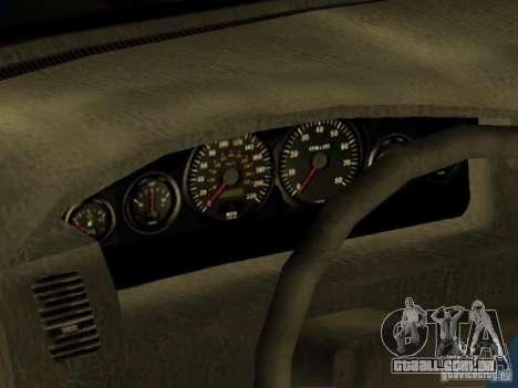 HD Kuruma para GTA San Andreas vista interior