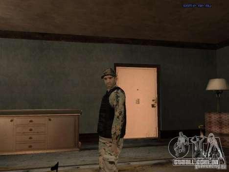 Army Soldier Skin para GTA San Andreas sexta tela