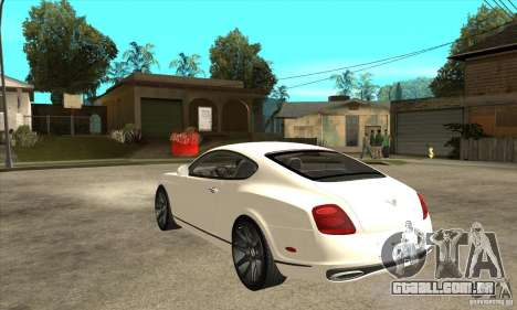 Bentley Continental Supersports para GTA San Andreas traseira esquerda vista