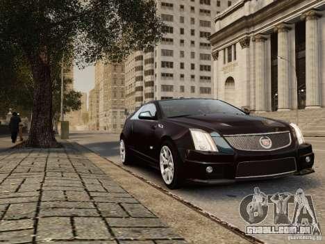 Cadillac CTS-V Coupe 2011 para GTA 4 vista direita