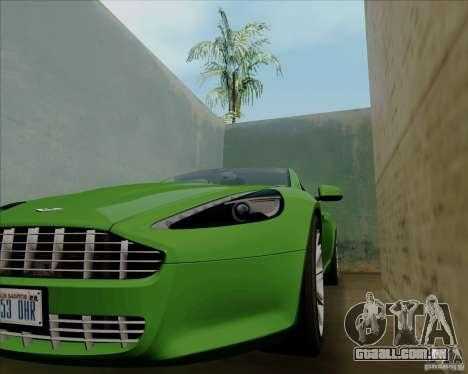 Aston Martin Rapide 2010 V1.0 para GTA San Andreas vista superior
