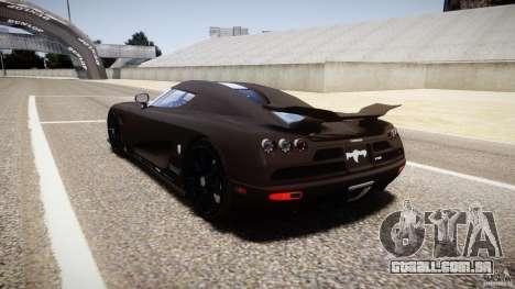 Koenigsegg CCXR Edition para GTA 4 traseira esquerda vista