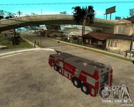 Rosenbauer Simba 8x8 GFLF FDSA para GTA San Andreas vista interior