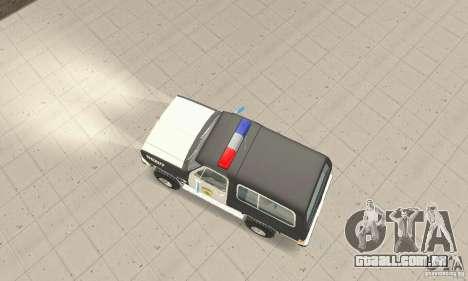 Chevrolet Blazer Sheriff Edition para GTA San Andreas vista direita