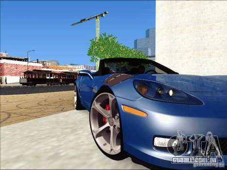 Chevrolet Corvette Grand Sport Cabrio 2010 para GTA San Andreas vista interior