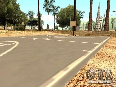A nova quadra de basquete em Los Santos para GTA San Andreas terceira tela