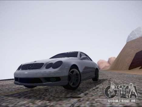 Mercedes-Benz CLK para GTA San Andreas esquerda vista
