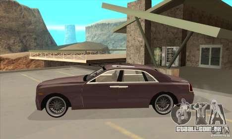 Rolls-Royce Ghost 2010 para GTA San Andreas esquerda vista