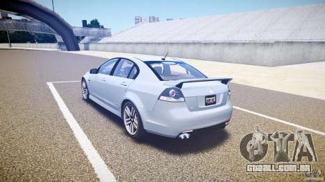 Holden Commodore SS (CIVIL) para GTA 4 traseira esquerda vista