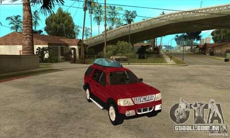 Ford Explorer 2004 para GTA San Andreas vista traseira