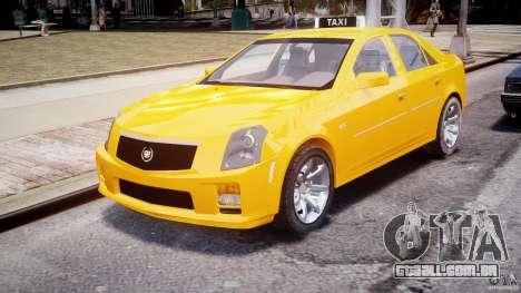 Cadillac CTS Taxi para GTA 4 vista de volta