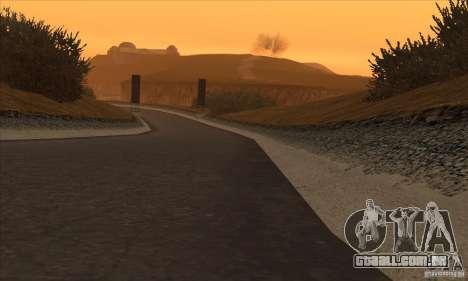 A rota do NFS Prostreet para GTA San Andreas por diante tela