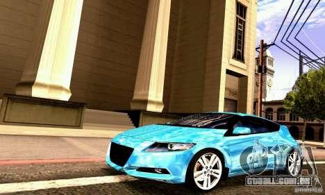 Honda CR-Z 2010 V2.0 para GTA San Andreas vista interior