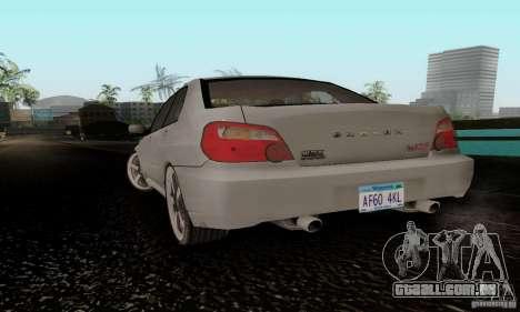 Subaru Impreza WRX STi TUNEABLE para GTA San Andreas esquerda vista
