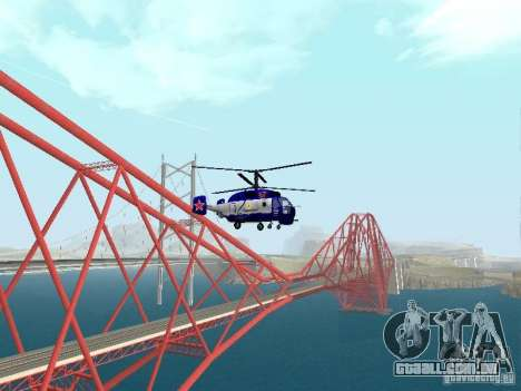 Ka-27 para GTA San Andreas traseira esquerda vista