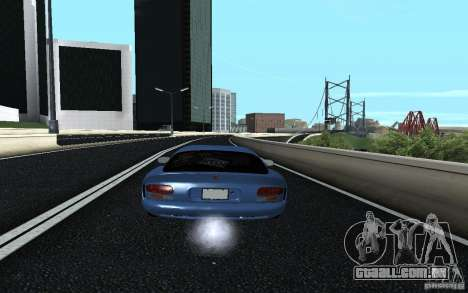 Dodge Viper GTS Monster Energy DRIFT para GTA San Andreas esquerda vista