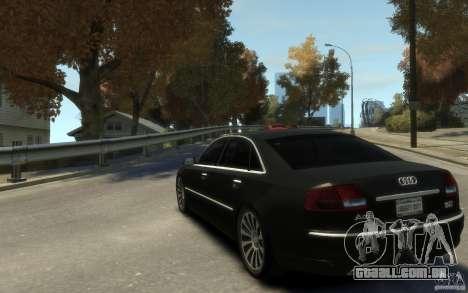 Audi A8 L 6.0 Quattro (Transporter 3) para GTA 4 vista de volta