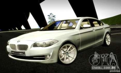 BMW 550i F10 para GTA San Andreas esquerda vista