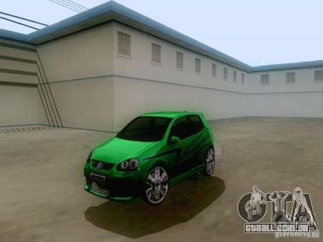 Volkswagen Golf V GTI para GTA San Andreas traseira esquerda vista