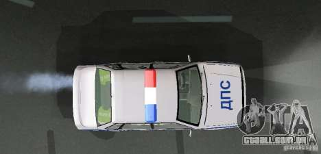 VAZ 2115 polícia DPS para vista lateral GTA San Andreas