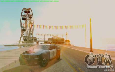 Ford Shelby Mustang GT500 Civilians Cop Cars para GTA San Andreas vista traseira