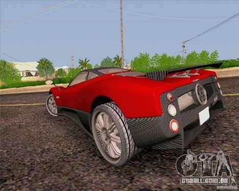 Pagani Zonda F v2 para GTA San Andreas traseira esquerda vista