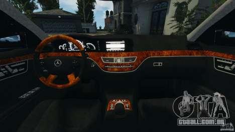 Mercedes-Benz S W221 Wald Black Bison Edition para GTA 4 vista de volta