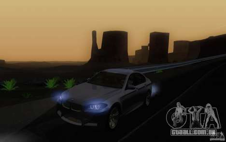 BMW M5 2012 para GTA San Andreas vista interior
