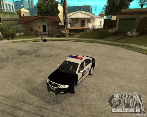 Skoda Octavia II 2005 SAPD POLICE para GTA San Andreas esquerda vista