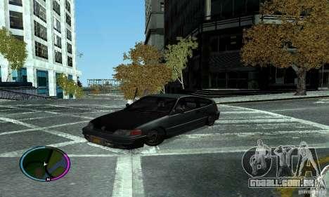 Honda CRX Tuned para GTA San Andreas traseira esquerda vista