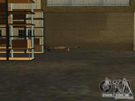 Renovação da base militar nas docas para GTA San Andreas quinto tela
