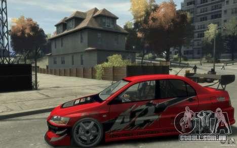 Mitsubishi Lancer para GTA 4 esquerda vista