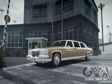 Cadillac Fleetwood 1985 para GTA 4 vista de volta
