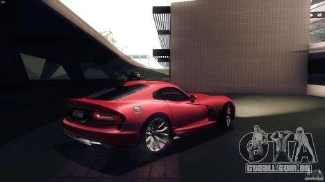 Dodge SRT Viper GTS 2012 V1.0 para GTA San Andreas vista direita