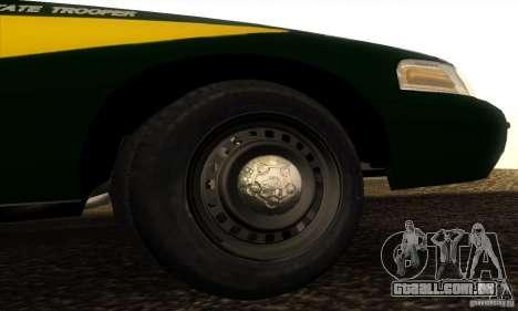 Ford Crown Victoria Indiana Police para GTA San Andreas vista direita