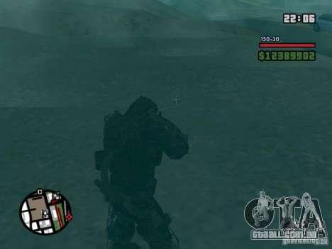 Perseguidor militar em èkzoskelete para GTA San Andreas por diante tela