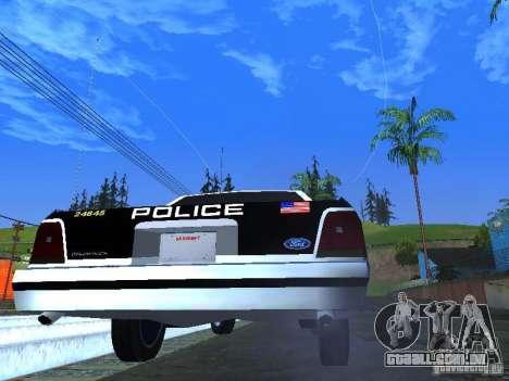 Ford Crown Victoria LTD 1992 LSPD para GTA San Andreas vista direita