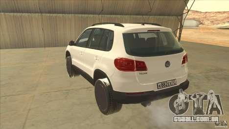 Volkswagen Tiguan 2012 v2.0 para GTA San Andreas traseira esquerda vista