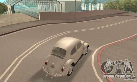 Volkswagen Beetle 1963 para GTA San Andreas vista interior