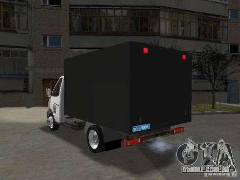 GAZ 3302 polícia para GTA San Andreas traseira esquerda vista