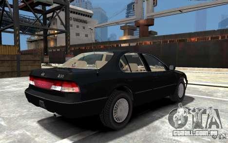 Infiniti I30 A32 Kouki para GTA 4 vista direita