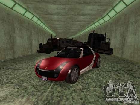 Smart Roadster Coupe para GTA San Andreas vista traseira