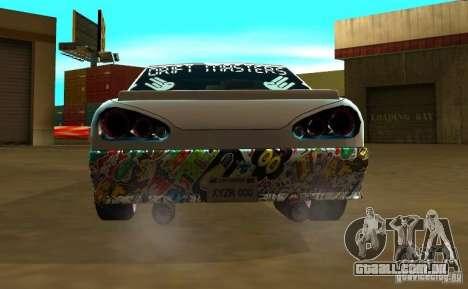 Elegy Drift Masters Final para GTA San Andreas traseira esquerda vista