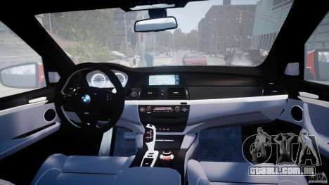 BMW X5M Chrome para GTA 4 interior