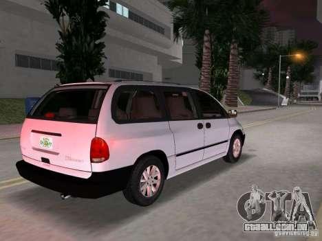 Dodge Grand Caravan para GTA Vice City vista traseira esquerda