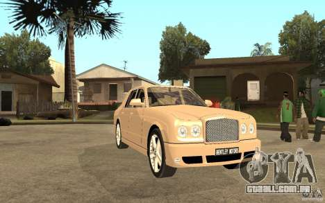 Bentley Arnage para GTA San Andreas vista traseira