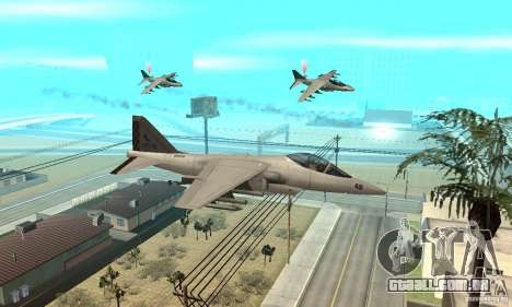 Guerra aérea para GTA San Andreas segunda tela