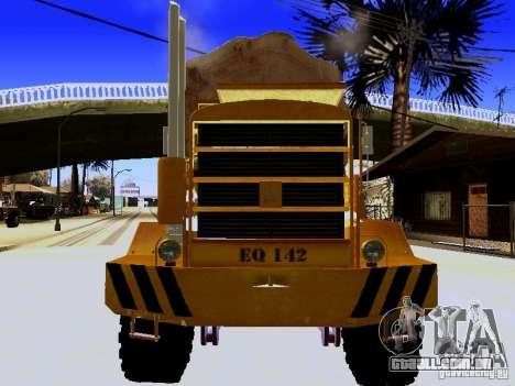 Hayes EQ 142 para GTA San Andreas vista interior